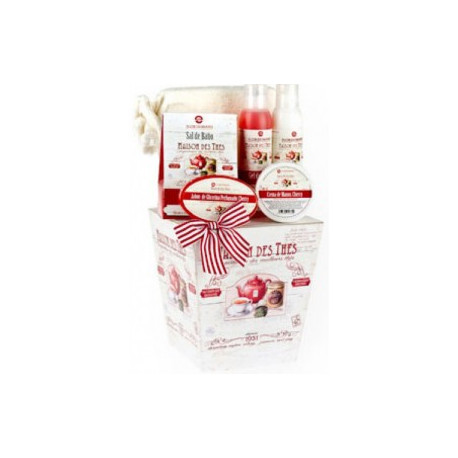 CUBO MADERA TEA TIME CHERRY